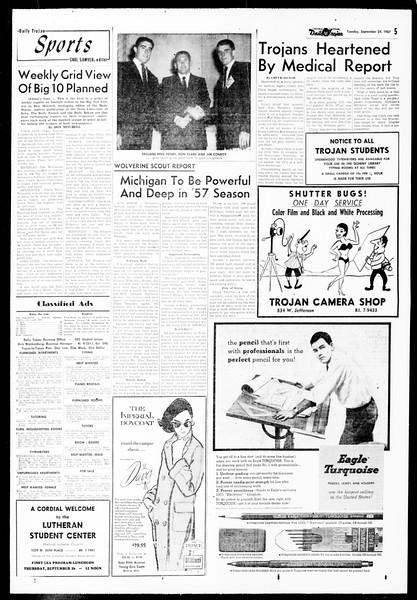 Daily Trojan, Vol. 49, No. 1, September 24, 1957