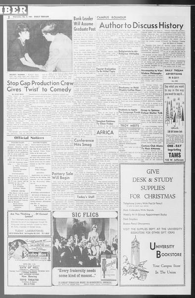 Daily Trojan, Vol. 53, No. 53, December 06, 1961