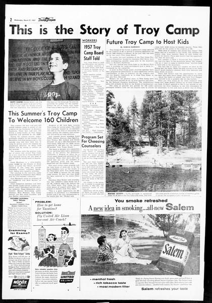 Daily Trojan, Vol. 48, No. 102, March 27, 1957