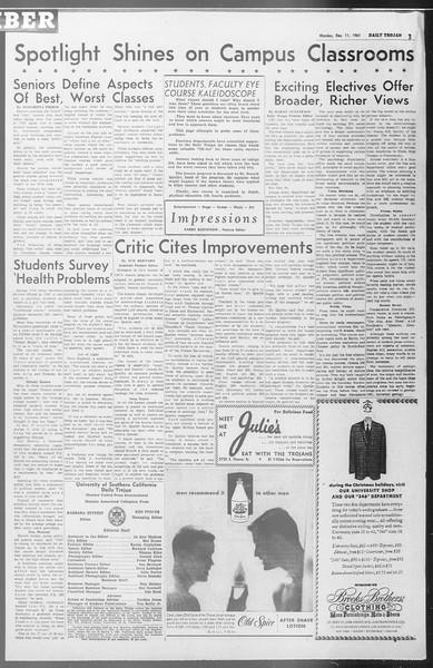 Daily Trojan, Vol. 53, No. 56, December 11, 1961