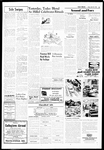 Daily Trojan, Vol. 49, No. 96, March 28, 1958