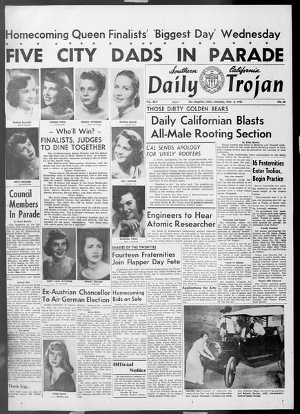 Daily Trojan, Vol. 45, No. 30, November 02, 1953