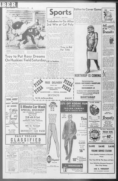 Daily Trojan, Vol. 53, No. 34, November 03, 1961