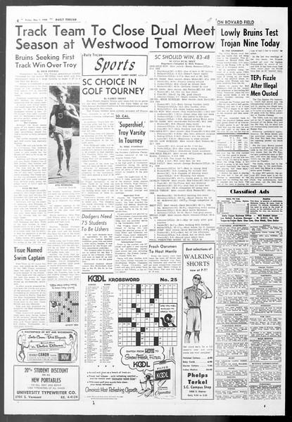 Daily Trojan, Vol. 50, No. 117, May 01, 1959