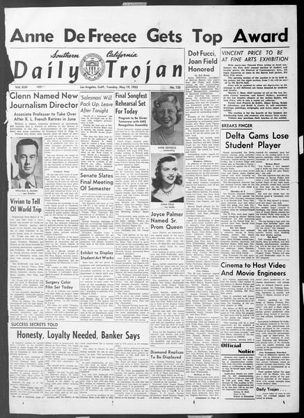 Daily Trojan, Vol. 44, No. 135, May 19, 1953