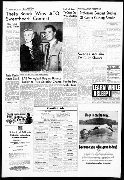 Daily Trojan, Vol. 48, No. 100, March 25, 1957