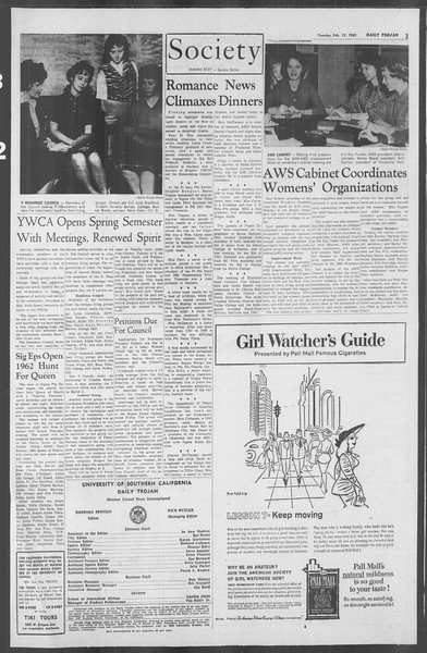 Daily Trojan, Vol. 53, No. 68, February 13, 1962