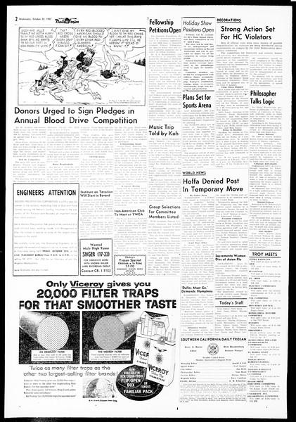 Daily Trojan, Vol. 49, No. 22, October 23, 1957