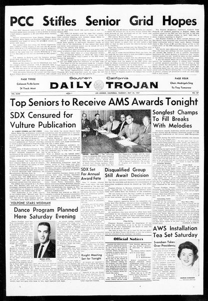 Daily Trojan, Vol. 48, No. 137, May 23, 1957