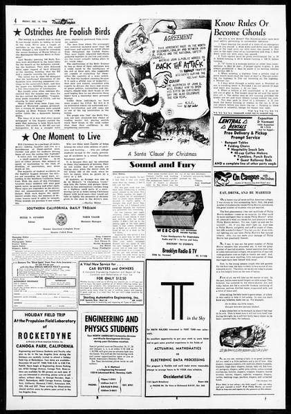 Daily Trojan, Vol. 48, No. 59, December 14, 1956