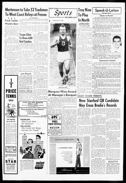 Daily Trojan, Vol. 48, No. 128, May 10, 1957