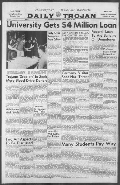 Daily Trojan, Vol. 53, No. 97, March 27, 1962