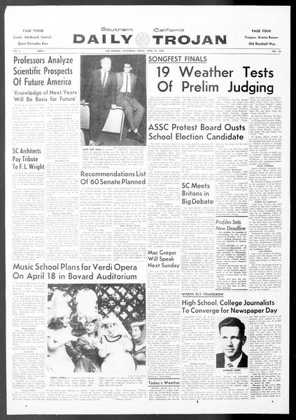 Daily Trojan, Vol. 50, No. 103, April 10, 1959