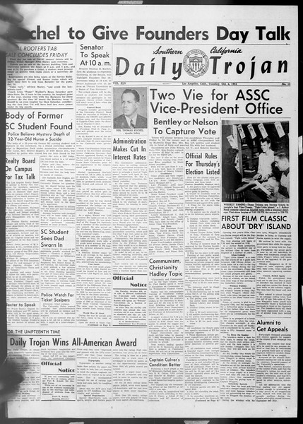 Daily Trojan, Vol. 45, No. 12, October 06, 1953