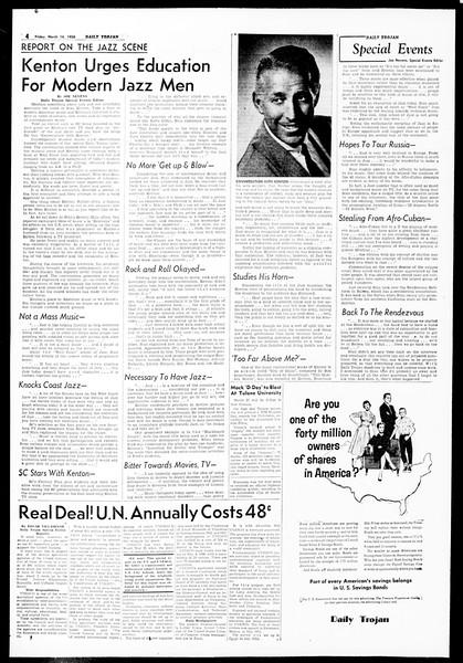 Daily Trojan, Vol. 49, No. 86, March 14, 1958