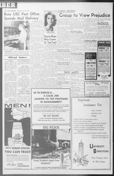 Daily Trojan, Vol. 53, No. 48, November 29, 1961