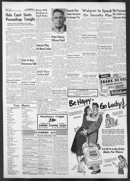 Daily Trojan, Vol. 42, No. 42, November 15, 1950