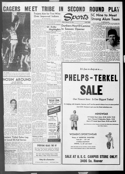 Daily Trojan, Vol. 45, No. 72, February 12, 1954