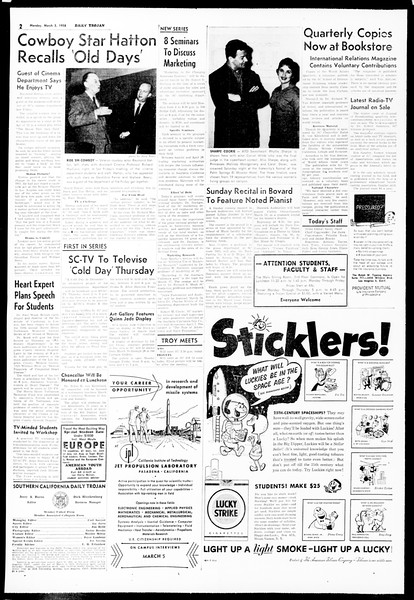 Daily Trojan, Vol. 49, No. 77, March 03, 1958