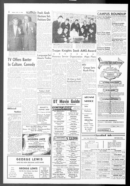 Daily Trojan, Vol. 48, No. 11, October 05, 1956