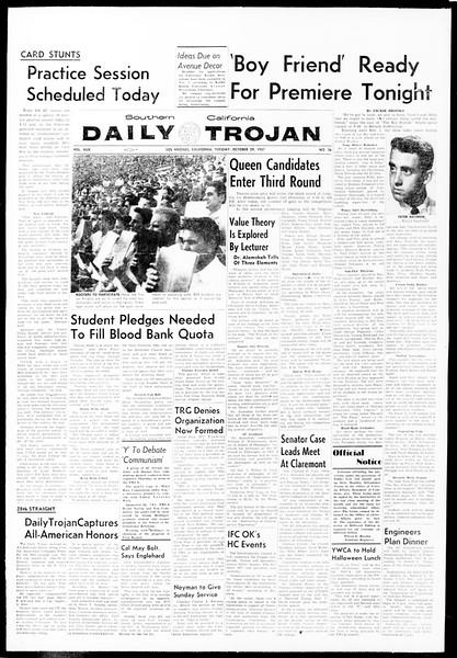 Daily Trojan, Vol. 49, No. 26, October 29, 1957