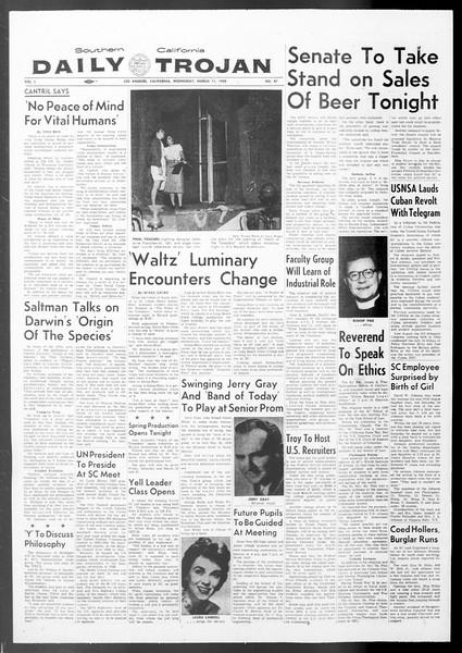 Daily Trojan, Vol. 50, No. 87, March 11, 1959