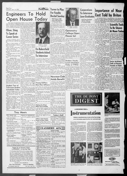 Daily Trojan, Vol. 44, No. 112, April 16, 1953