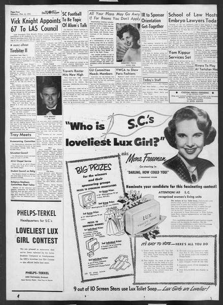 Daily Trojan, Vol. 43, No. 16, October 08, 1951