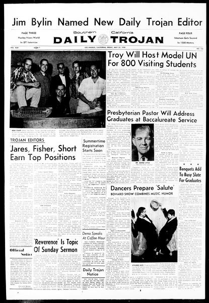 Daily Trojan, Vol. 49, No. 124, May 23, 1958