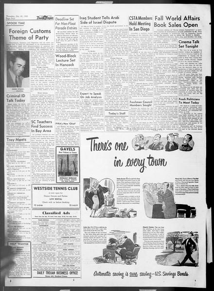 Daily Trojan, Vol. 45, No. 28, October 29, 1953
