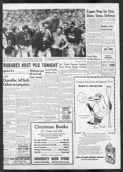 Daily Trojan, Vol. 42, No. 54, December 05, 1950