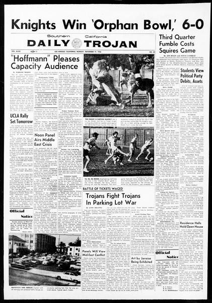 Daily Trojan, Vol. 48, No. 42, November 19, 1956