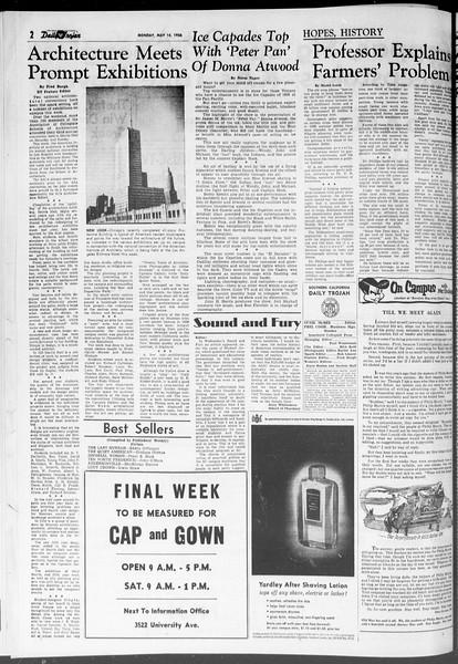 Daily Trojan, Vol. 47, No. 133, May 14, 1956