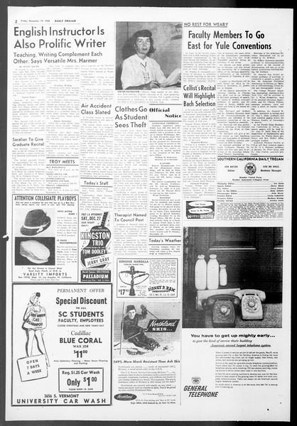 Daily Trojan, Vol. 50, No. 61, December 19, 1958