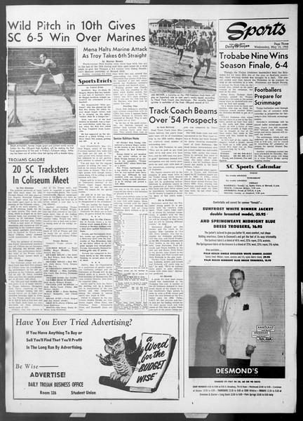 Daily Trojan, Vol. 44, No. 131, May 13, 1953