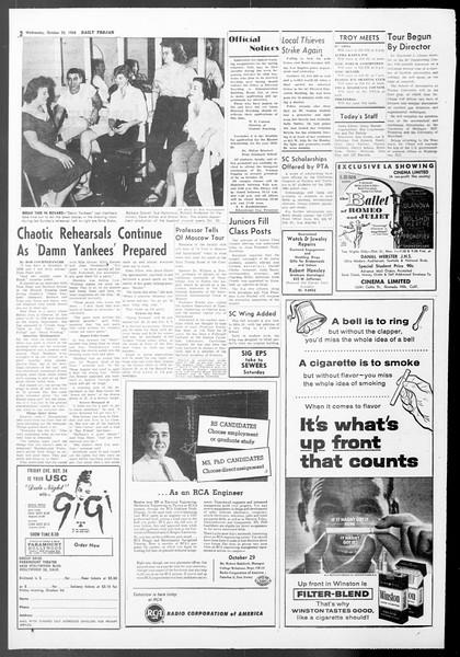 Daily Trojan, Vol. 50, No. 23, October 22, 1958