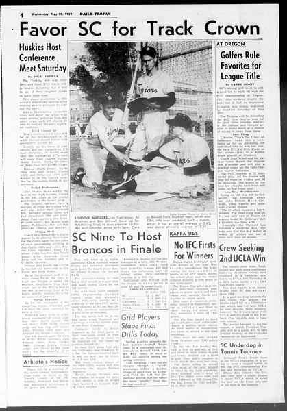 Daily Trojan, Vol. 50, No. 127, May 20, 1959