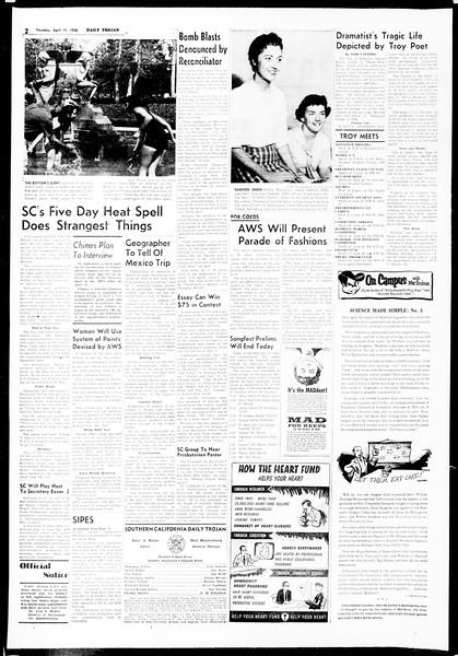 Daily Trojan, Vol. 49, No. 103, April 17, 1958