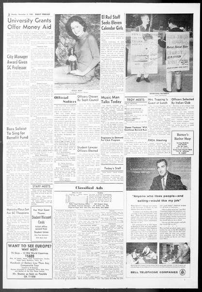 Daily Trojan, Vol. 50, No. 31, November 03, 1958