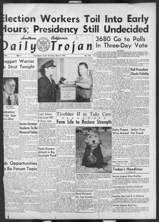 Daily Trojan, Vol. 42, No. 132, May 17, 1951