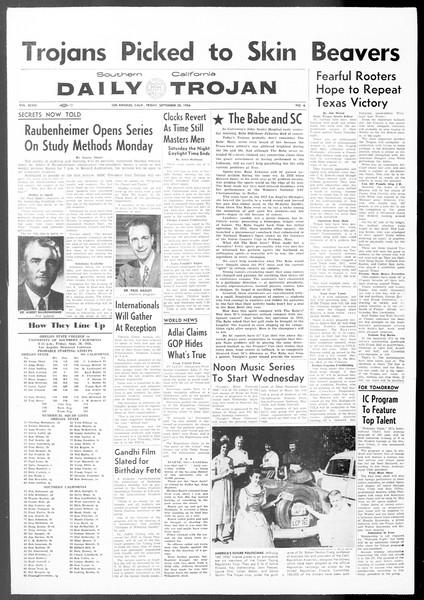 Daily Trojan, Vol. 48, No. 6, September 28, 1956