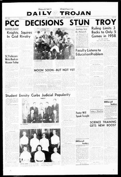 Daily Trojan, Vol. 49, No. 49, December 05, 1957