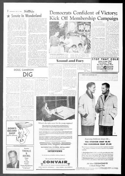 Daily Trojan, Vol. 48, No. 9, October 03, 1956