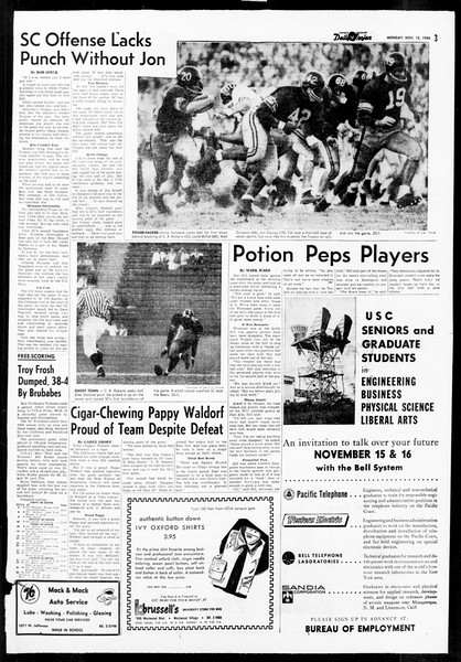 Daily Trojan, Vol. 48, No. 37, November 12, 1956