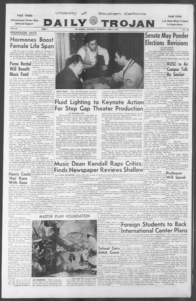 Daily Trojan, Vol. 53, No. 103, April 04, 1962