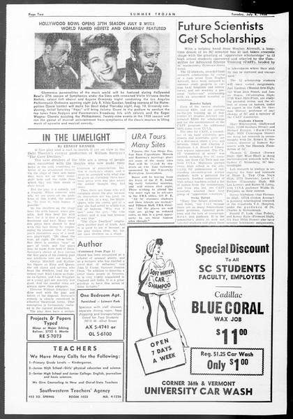Summer Trojan, Vol. 8, No. 4, July 08, 1958