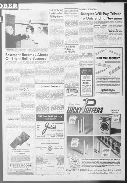Daily Trojan, Vol. 53, No. 30, October 30, 1961