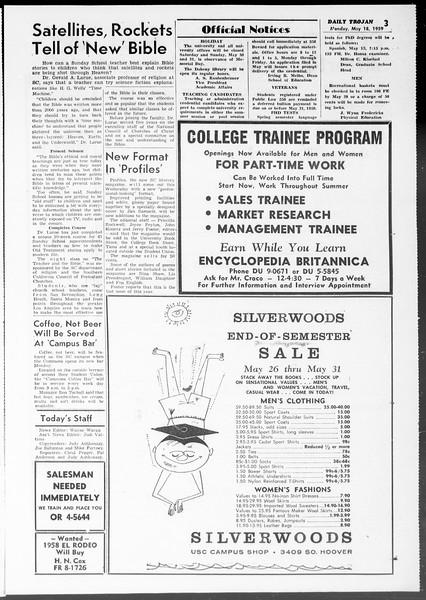 Daily Trojan, Vol. 50, No. 126, May 18, 1959