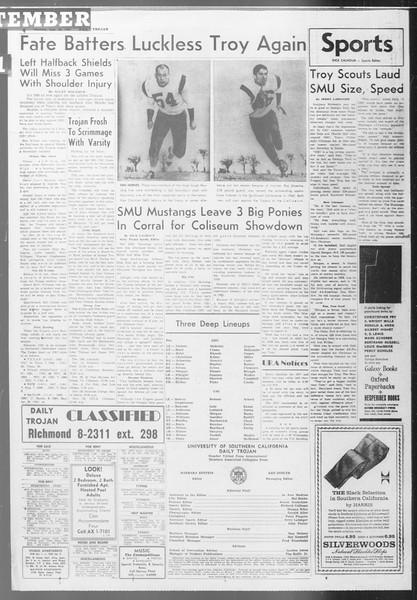 Daily Trojan, Vol. 53, No. 9, September 28, 1961