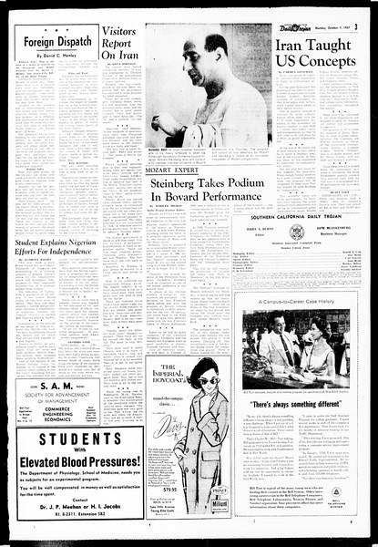 Daily Trojan, Vol. 49, No. 10, October 07, 1957